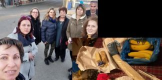 Οι γυναίκες του Έβρου μοιράζουν φαγητά και χυμούς στους Έλληνες στρατιώτες και αστυνομικούς